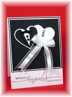 Wedding Card - Heart Punch