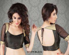 Black Brocade Fabric Saree Blouse http://rajasthanispecial.com/index.php/black-brocade-fabric-saree-blouse-2894.html