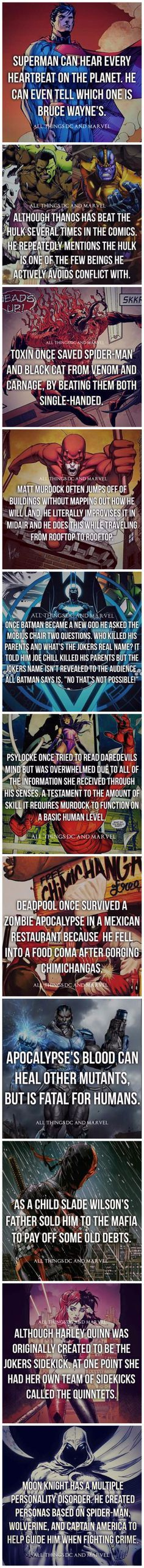 Cool superhero facts. Love stuff like this!
