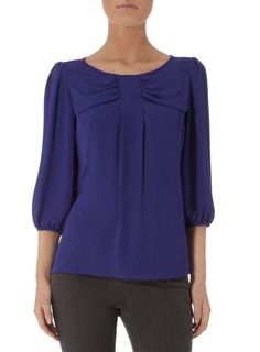 Blue bow front top