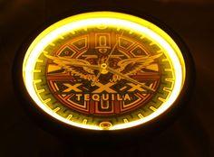 Xxx tequila neon light up wall clock yellow blue man cave home bar xxx tequila neon light up wall clock yellow blue man cave home bar aztec decor aloadofball Images