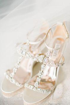 Romantic + Elegant Annapolis Wedding – Style Me Pretty Blush Bridal Shoes, Badgley Mischka Shoes Wedding, Wedding Heels, Wedding Hairstyles Tutorial, Cool Wedding Cakes, Bride Shoes, Modest Wedding Dresses, Trendy Wedding, Elegant Wedding
