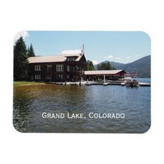 Grand Lake Yacht Club in Grand Lake Colorado Magnet - diy cyo customize create your own personalize