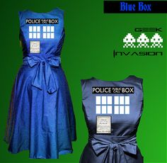 Tardis Doctor Who Dress Doctor Who Costume Tardis by InvadeGeek, $85.00