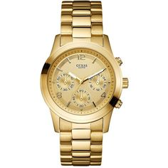 GUESS Bold Contemporary Waterpro Chronograph Watch ❤ liked on Polyvore