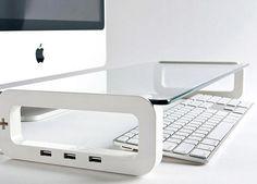 UBoard USB Keyboard Shelf Integrated USB Hub - GadgetSin $49.99