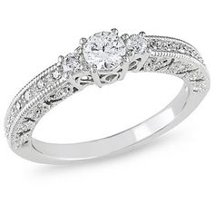 My wedding ring! :) 1/2 Carat T.W. Diamond Engagement Ring in 10kt White Gold