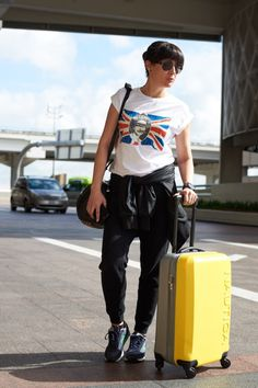 What I wear On a Long Flight - Audrey is a Boy