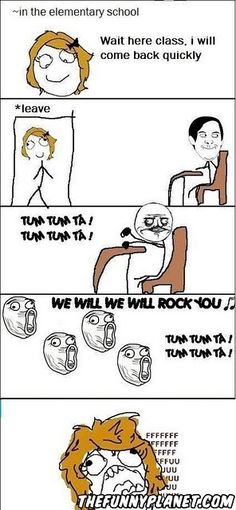 I remember doing this during lunch once and the teachers got really mad.