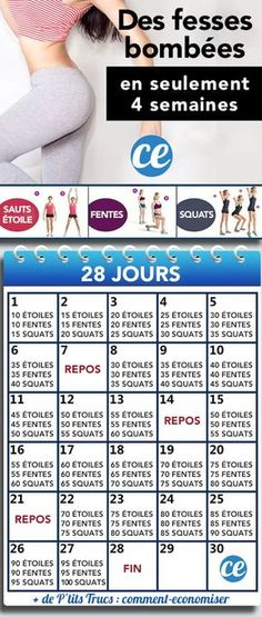 Relevez le Défi : Des Fesses Bombées En Seulement 4 Semaines Et 3 Exercices. Take the Challenge: Buttocks In Only 4 Weeks And 3 Exercises. The post Take the Challenge: Buttocks In Only 4 Weeks And 3 Exercises. Fitness Workouts, Fitness Herausforderungen, Fitness Motivation, Training Fitness, Sport Motivation, Fun Workouts, Enjoy Fitness, Woman Fitness, Fitness Plan