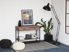 Industrial Style Floor Lamp with Vintage Lighting Vintage Lighting, Beliani, Black Floor Lamp, Tripod Floor Lamps, Lamp, Industrial Style Floor Lamp, Furniture, Home Decor, Room