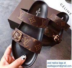 Louis Vuitton Bom Dia Mules Sandals 1A29GB Noir 2017
