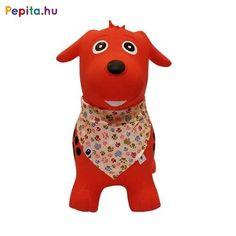 Gumiból készült, felfújható kutya ugrálófigura, sállal. Kül- és  beltéren egyaránt használható. A piros kutya ugrálófigura magassága 44 cm, hossza 51 cm, ülésmagassága 24 cm. Maximális terhelhetősége 20  kg. 2 éves kortól ajánljuk. A csomagolás tartalmaz 1 db pumpát is. Scooby Doo, Fictional Characters, Art, Kunst, Fantasy Characters, Art Education, Artworks
