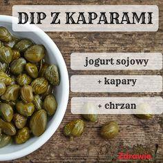 Dip chrzanowy z kaparami Sprouts, Beans, Fruit, Vegetables, Food, Christmas, Dish, Meal, Navidad