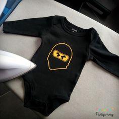 Anniversaire Lego Ninjago body bébé personnalisé ninja Cole