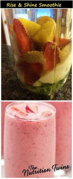 Rise and Shine Nutritious Smoothie |Only 156 Calories | Great for Energy | Protein & Fiber-packed to Keep You Satisfied for Hours  |For MORE RECIPES please SIGN UP for our FREE NEWSLETTER www.NutritionTwins.com