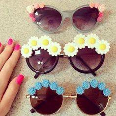 lentes con flores