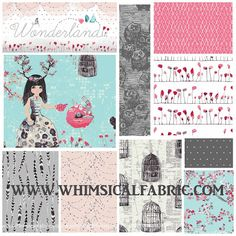The new Wonderland fabric from Art Gallery Fabrics will be in stock at Whimsical Fabric Shop soon! Stop on by and order today! #ArtGalleryFabrics #whimsicalfabric #fabricshop