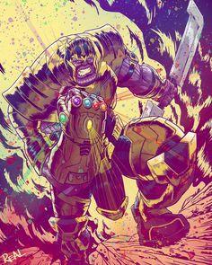 Avengers Endgame Fanarts featuring: Spiderman, Dr Strange Drax, Captain Marvel and Thanos Best Villains, Marvel Villains, Marvel Heroes, Marvel Characters, Marvel Comics, Thanos Marvel, Venom Comics, Avengers Fan Art, Graphic Novels