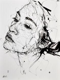 Aiden k – syllabus Portrait Sketches, Art Drawings Sketches, Portrait Art, 3d Street Art, Arte Dope, Scribble Art, A Level Art, Pen Art, Art Plastique