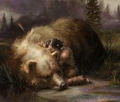 Online digital art gallery of best pictures and photos from portfolios of digital artists. Manually processing and aggregation artworks into the thematic digital art galleries. Bear Totem, Image Digital, Digital Art Gallery, Fantasy Pictures, Brown Art, Bear Art, Fauna, Game Art, Bears