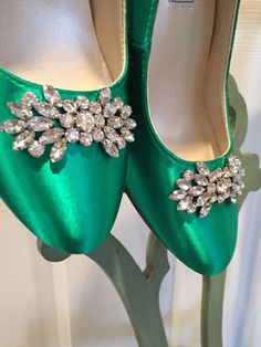 452eef0b733 Wedding Shoes Emerald Green Emerald Green Wedding~ Heels  Embellishment   Sparking crystals Color  Choose from over 200 colors.