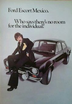 The Ten Most Awkward Official Car Photos Ever Taken Banana Man, Car Brochure, Ford Classic Cars, Dont Call Me, Ford Escort, Car Advertising, Mk1, Car Photos, Look Cool