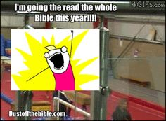 Read the Bible in a year GIF meme #Christianmemes #ChristianGifs #Christiancomedy
