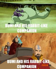 The Legend of Korra/Avatar the Last Airbender: bumi and his bunnies