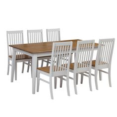 Maine 1800 Table with 4 x Maine Chairs Package (White) - Packages - Dining