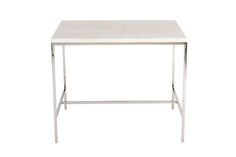 Hunter Travertine Top Side Table