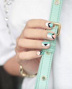 Loving this geometric mani!