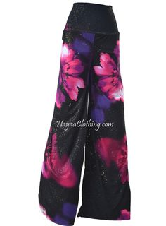 Look for Wide leg pants that are modest and fashionable at Hayaa Clothing Floral Palazzo Pants, Wide Leg Palazzo Pants, Wide Leg Pants, Harem Pants, Casual Pants, My Favorite Things, Fun Stuff, Silver, Pink