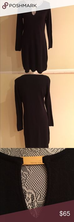 NWT MICHAEL KORS SWEATER DRESS NWT MICHAEL KORS SWEATER DRESS.  Black long sleeve with key hole front opening and gold logo.  Size Small Michael Kors Dresses