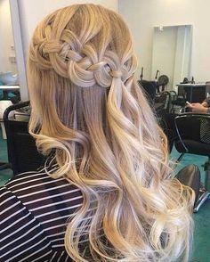 Half Up Braided Crown + Curls