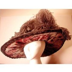women's hats 19th century | 19th Century Ladies Victorian Hat Late 1800s through Turn of the 20th ...