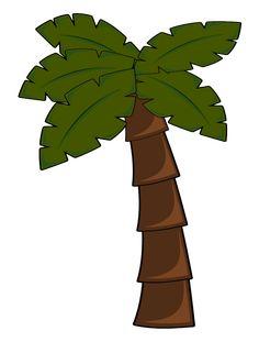 palm tree leaf template leaf clip art vector clip art online rh pinterest com