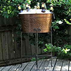 Bronzed Beverage Tub