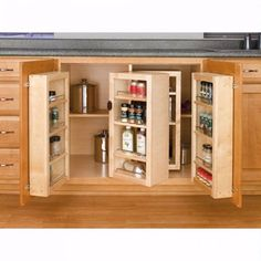 Swing Out Complete Pantry System, Rev-a-Shelf Series-Swing Out Single Units Kitchen Buffet, New Kitchen Cabinets, Kitchen Doors, Base Cabinets, Wood Cabinets, Pantry Cabinets, Kitchen Pantry, Kitchen Ideas, Kitchen Themes
