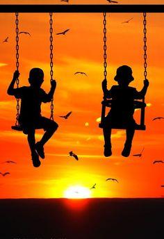 **Silhouette - Sun Swing - by Marco Ciofalo Digispace