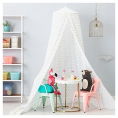 Metallic Hearts Bed Canopy - White - Pillowfort™ : Target