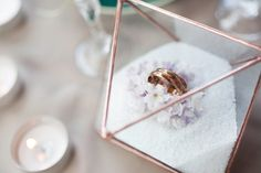 Wedding ring holder Wedding ring box Ring bearer box Glass box Wedding ring bearer holder Geometric glass box Octahedron - Cell Phone Ring Stand - Ideas of Cell Phone Ring Stand - Just look at this sweetie! Small geometric terrarium Octahedron contains Elegant Wedding Rings, Custom Wedding Rings, Ring Holder Wedding, Ring Holders, Ring Bearer Box, Titanium Wedding Rings, Ring Stand, Wedding Proposals, Perfect Wedding