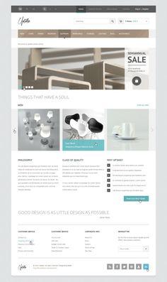 Uptake Store PSD Template by entiri , via Behance