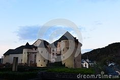 Castle in Bourglinster, Luxembourg in spring