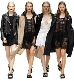 /lace-dress-leather-jacket-burberry-lfw