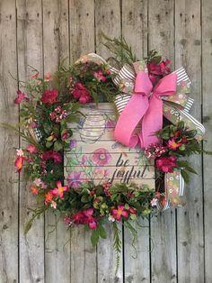 Summer Wreath,Spring Wreath,Front Door Wreath,All Year Wreath,summer Door