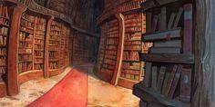 The Library © Simone Joslyn Kesterton (Artist, Germany) aka DawnElaineDarkwood via DeviantArt. Subtly spooky. ★ Find more at http://www.pinterest.com/competing/