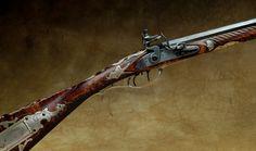 Flintlock rifle.