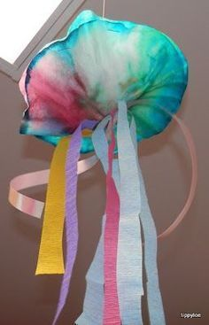 Colorful Jellyfish Kid Crafts - Ocean Theme - A Crafty Life Coffee Filter Jelly .Colorful Jellyfish Kid Crafts - Ocean Theme - A Crafty Life Coffee Filter Jellyfish Kids Crafts - Jellyfish Kids Crafts -