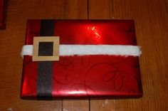Cute Santa wrapped packages - no bow, so good for traveling